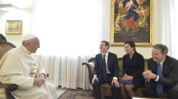 Đức Giáo Hoàng Phanxicô tiếp người sáng lập Facebook